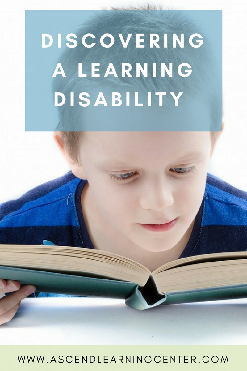 Discovering a learning disbility