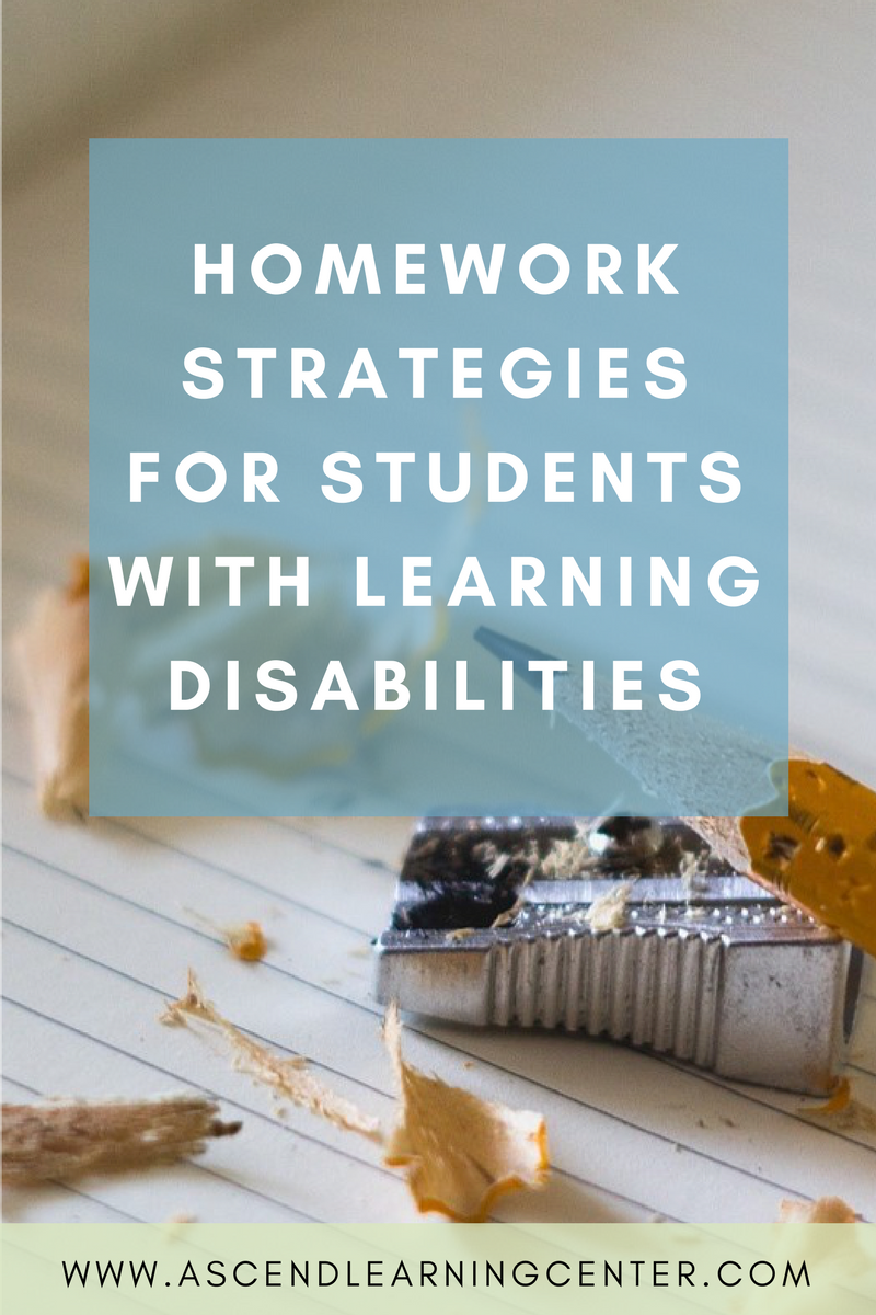 Homework Strategies for Students with Learning Difficulties