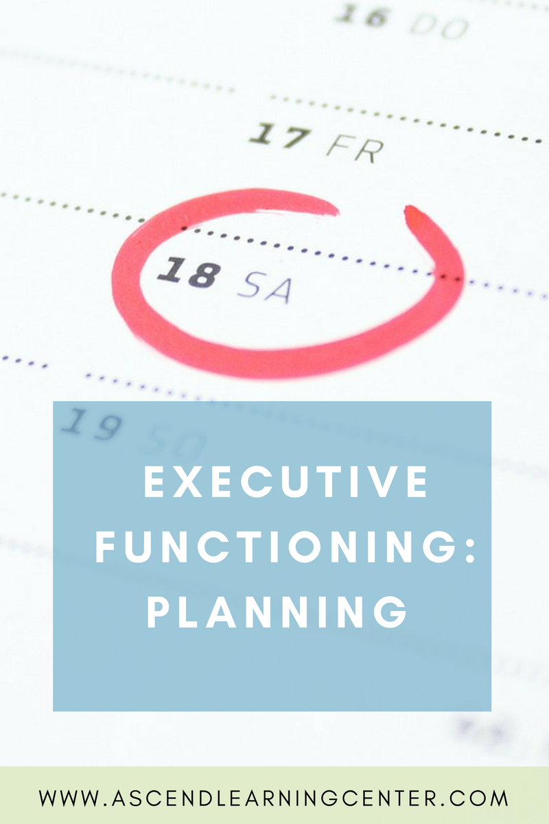 Executive Functioning: Planning
