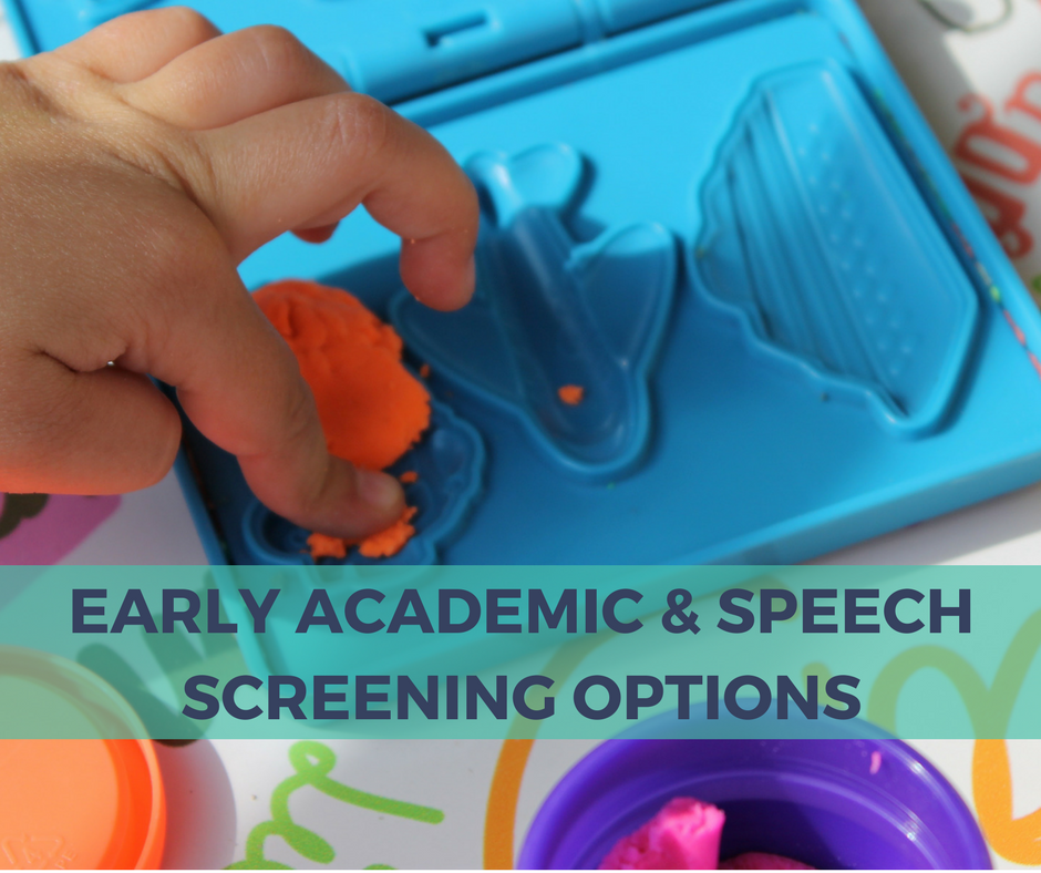 Early Academic & Speech Screening Options