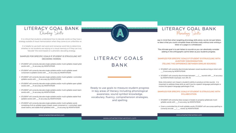 Literacy Goal Bank