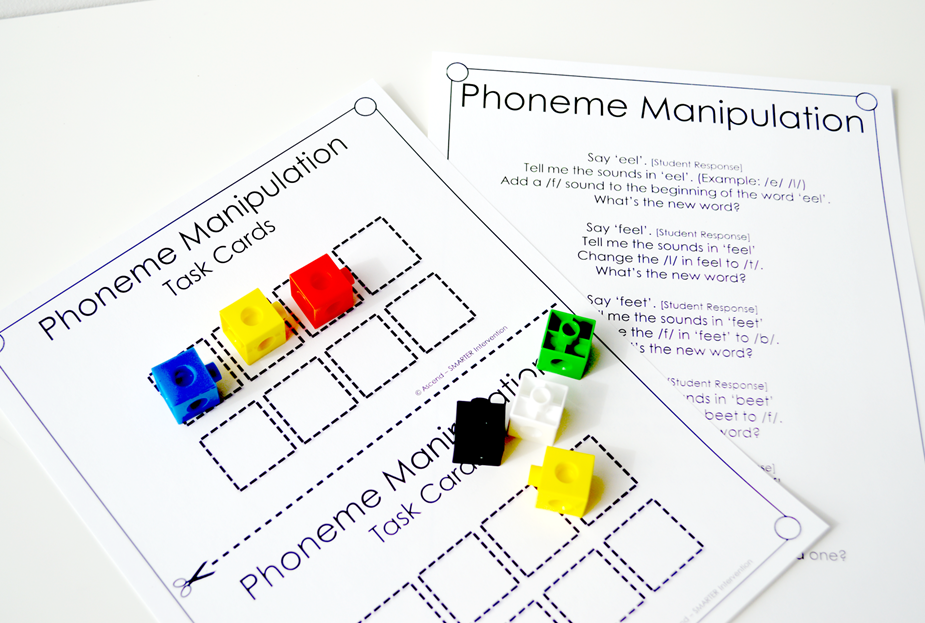 Interactive ee ey phoneme manipulation pages with script