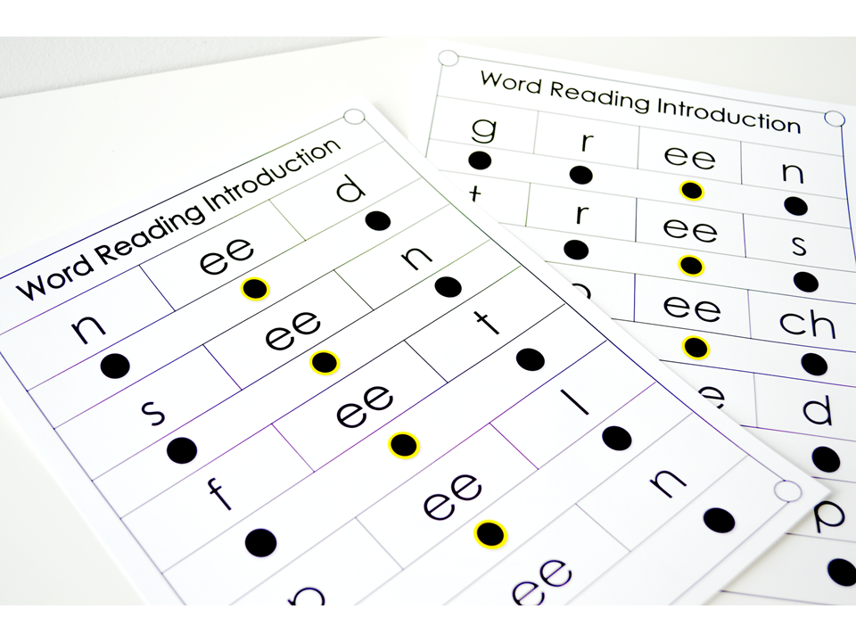 ee & ey word reading introduction pages