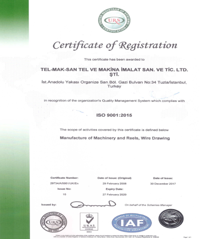 telmaksan ISO 9001:2008