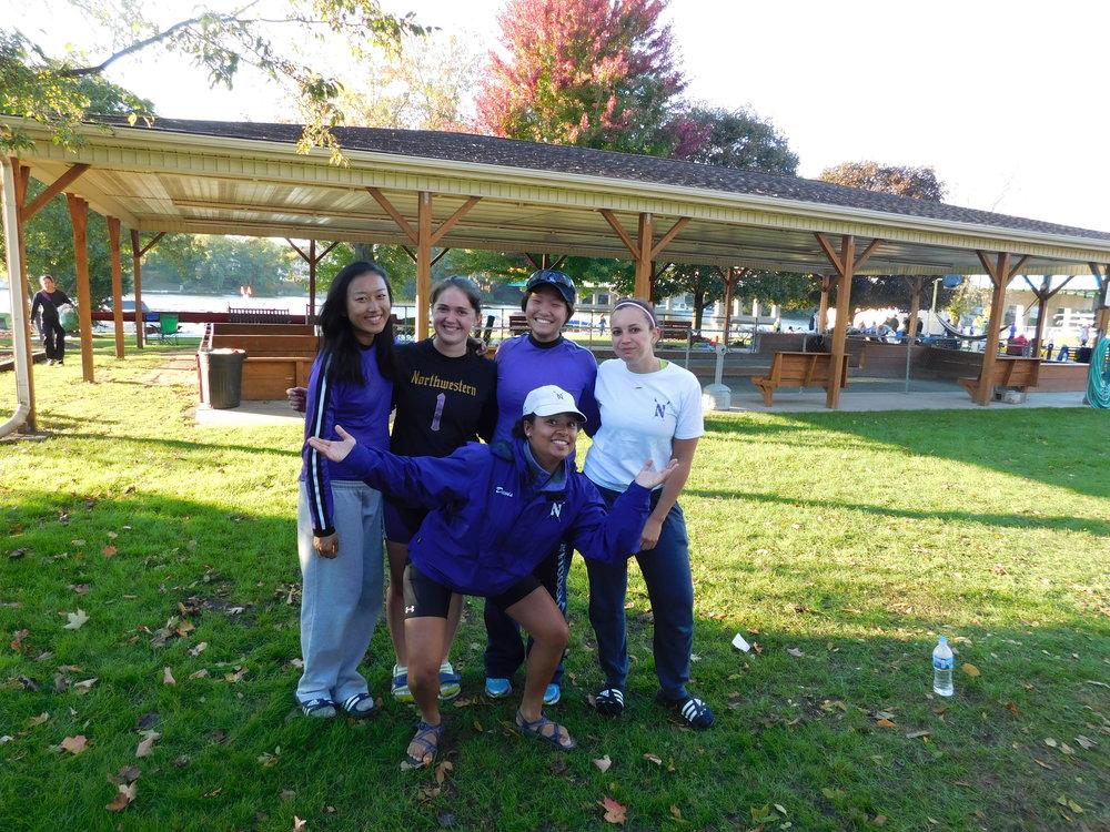 Northwestern Women's 4+ (A) Cox: Michaela Davis, 4: Liana Tellez, 3: Allyson Aller, 2: Betty Bu, 1: Michelle Zhang