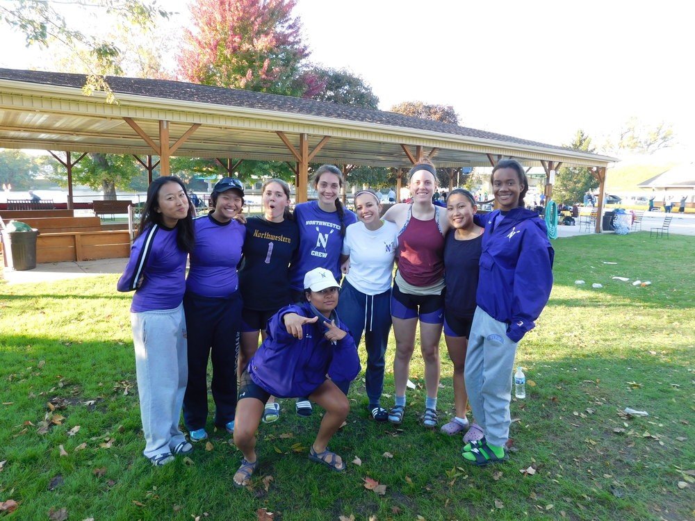 Northwestern Women's 8+  Cox: Michaela Davis, 8: Katie Perry, 7: Betty Bu, 6: Jenn Kroon, 5: Liana Tellez, 4: Michelle Zhang, 3: Maria Peurach, 2: Allyson Aller, 1: Kelli Nguyen