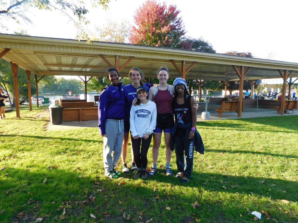 Northwestern Women's 4+ (B) Cox: Caroline O'Connell, 4: Katie Perry, 3: Maria Peurach, 2: Jenn Kroon, 1: Angela Cureton