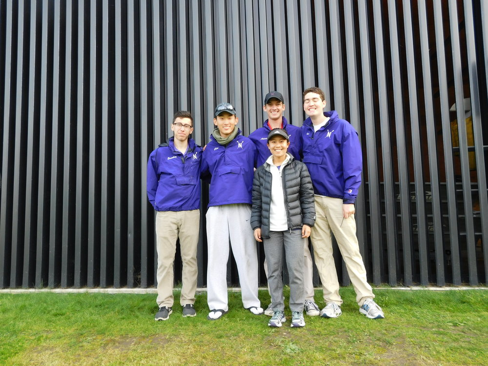 Northwestern Men's 4+ (B): Cox: Megan Yee, 4: Ian Kuo, 3: Kyle Aldrich, 2: Philip Choi, 1: Joe Sanchez