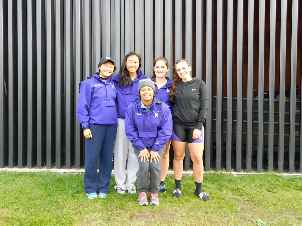 Northwestern Women's 4+ (A): Cox: Michaela Davis, 4: Liana Tellez, 3: Allyson Aller, 2: Betty Bu, 1: Michelle Zhang