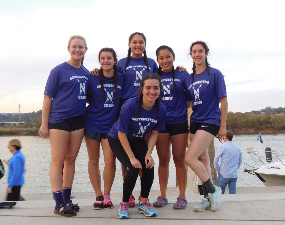 Northwestern Women's Collegiate 4+ (C/Novice):  Cox: Abby Wolfe, 4: Kelli Nguyen, 3: Martina Thurman, 2: Mary Stoa, 1: Debbie Turetsky