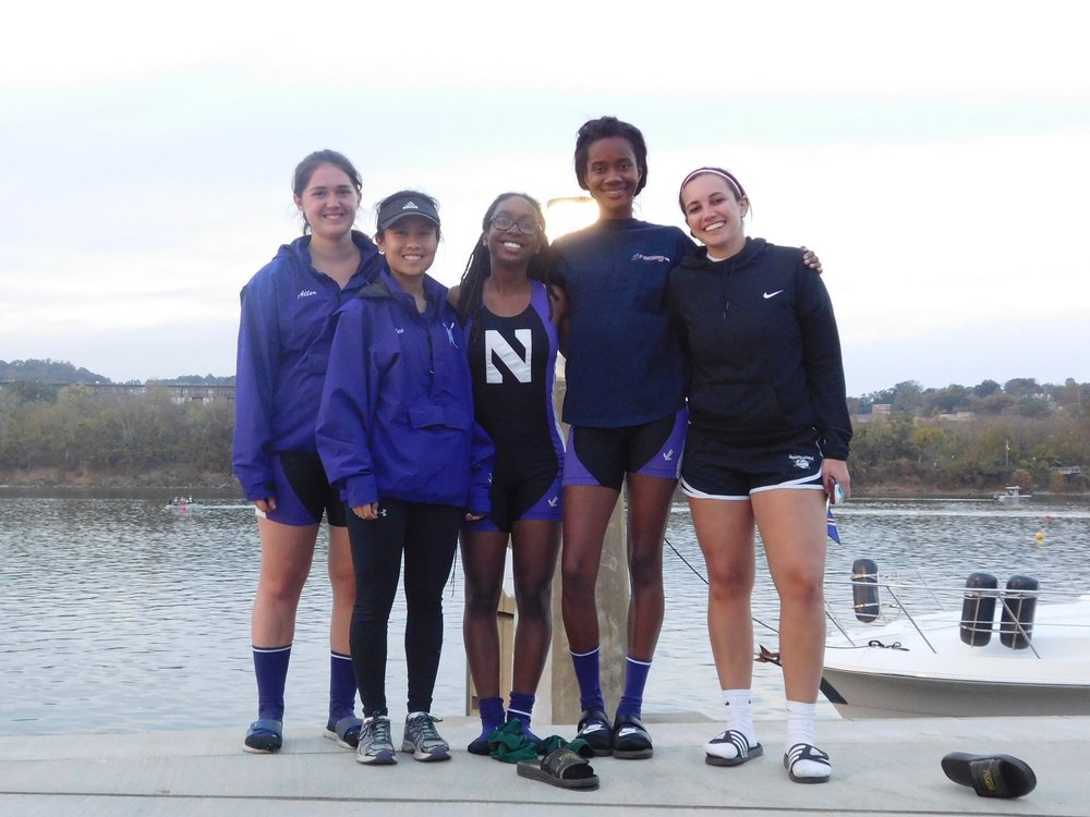 Northwestern Women's Collegiate 4+ (B): Cox: Megan Yee, 4: Katie Perry, 3: Liana Tellez, 2: Allyson Aller, 1: Angela Cureton