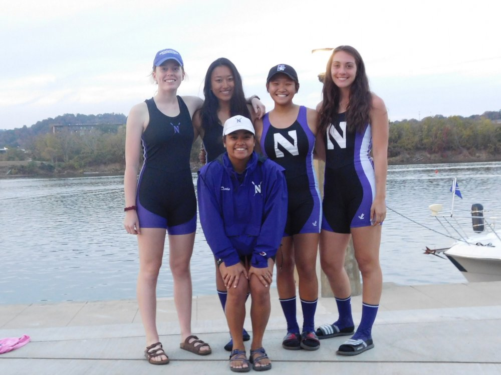 Northwestern Women's Collegiate 4+ (A):  Cox: Michaela Davis, 4: Jenn Kroon, 3: Betty Bu, 2: Michelle Zhang, 1: Maria Peurach