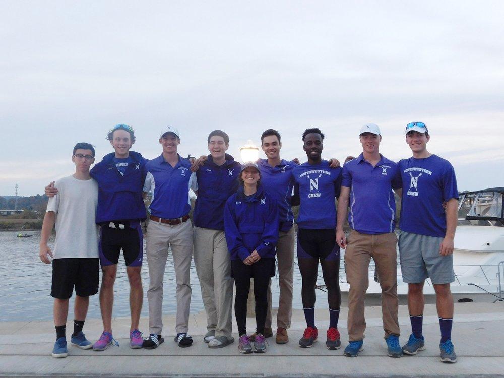 Northwestern Men's Collegiate 8+:  Cox: Ariela Berg, 8: Robert Houghton, 7: Evan Wilson, 6: Craig Wanda, 5: Matthias Wuest, 4: Jared Colin, 3: Kyle Aldrich, 2: Ian Kuo, 1: Joe Sanchez