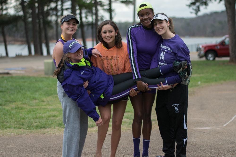 Northwestern Women's Lightweight 4+  Cox: Ariela Berg, 4: Katie Cavanaugh, 3: Sofia Montoya, 2: Katie Perry, 1: Sarah Evan