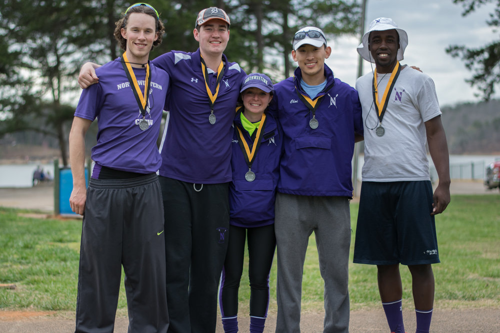 Northwestern Men's Second Varsity 4+ Cox: Ariela Berg, 4: Craig Wanda, 3: Jared Collins, 2: Ian Kuo, 1: Phillip Choi