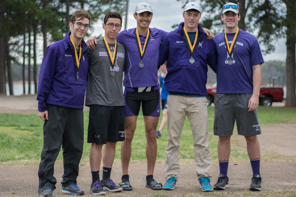 Northwestern Men's Varsity 4+ Cox: Matthew Guzman, 4: Robert Houghton, 3: Evan Wilson, 2: Matthias Wuest, 1: Joe Sanchez