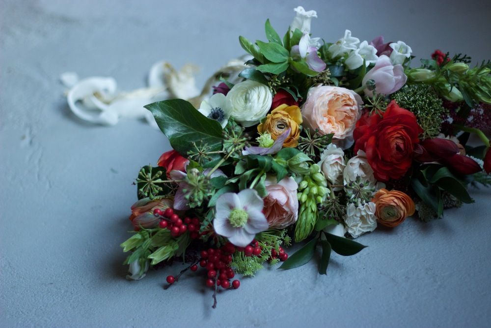 winter bouquet for a New Year wedding