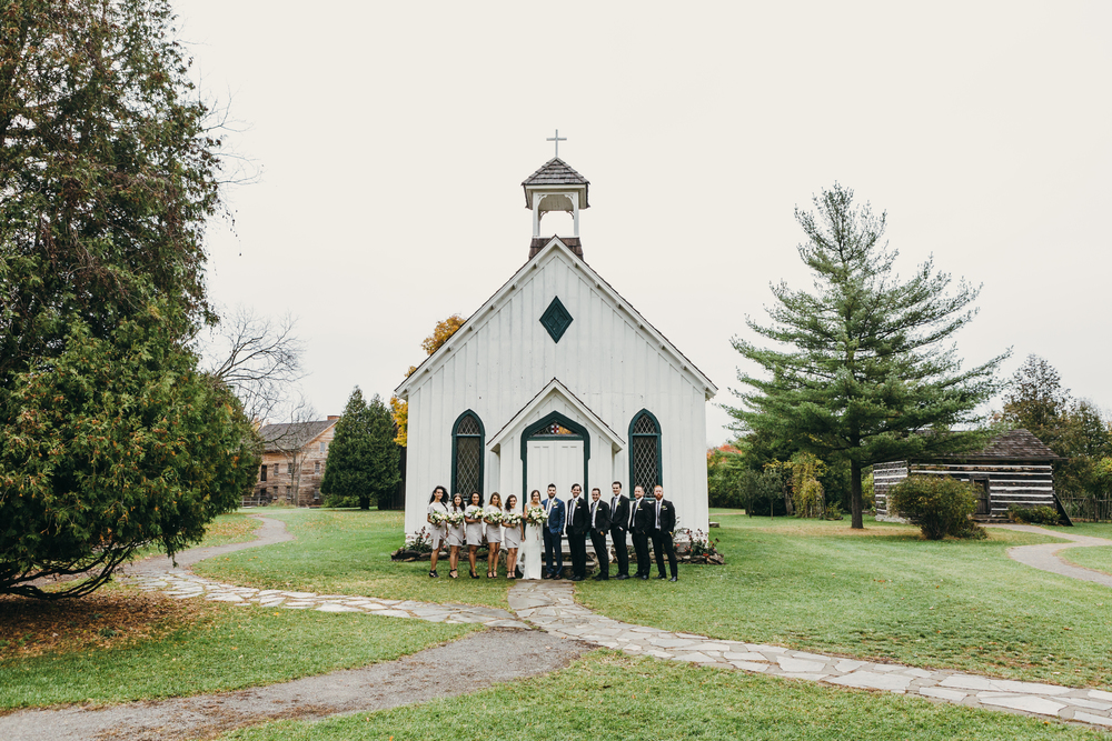 These images are of Steph + Brandon's Autumn wedding, captured by Viktor Radics