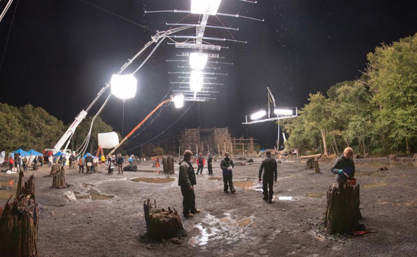 artificial rain filming
