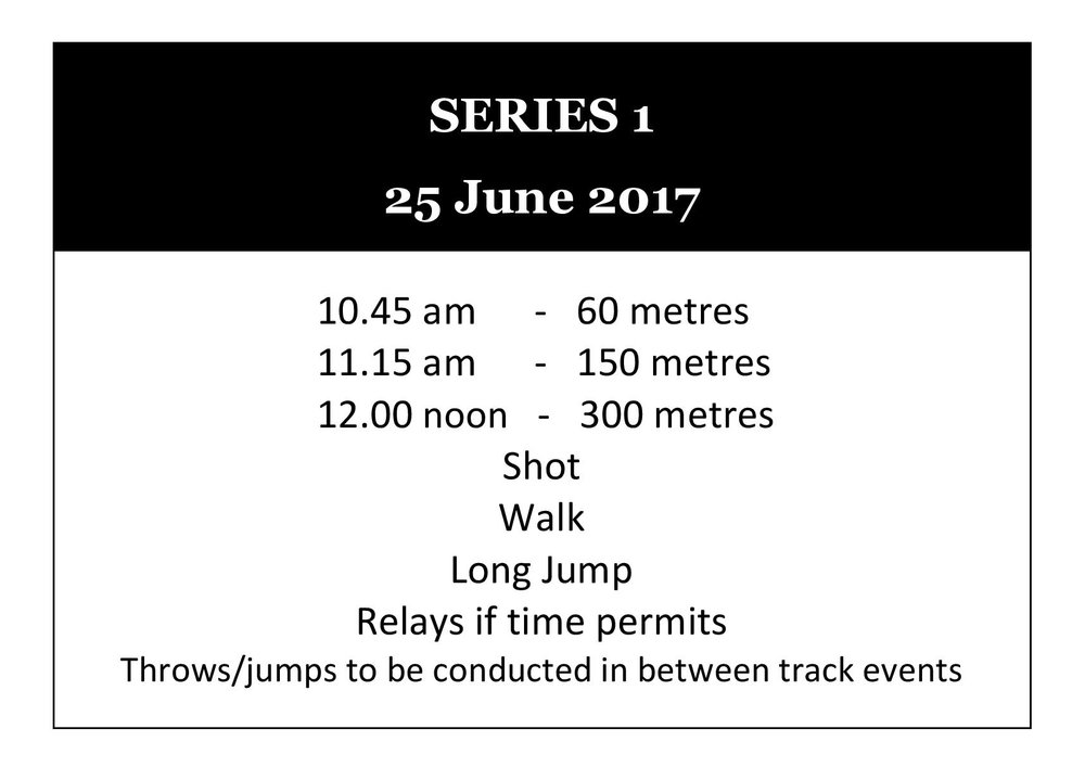Winter Track Series 1