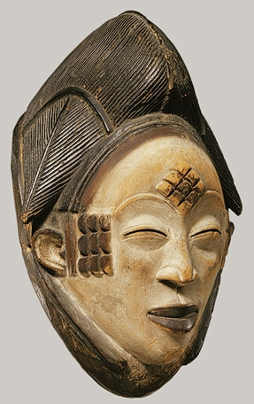 African Mask Tranquil Eyes