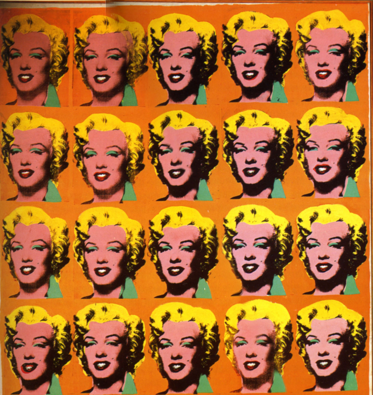 Excerpt from Andy Warhol's Marilyn Diptych