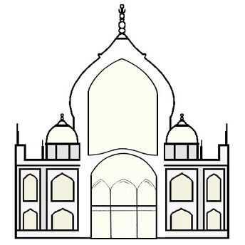 Taj Mahal Double Dome