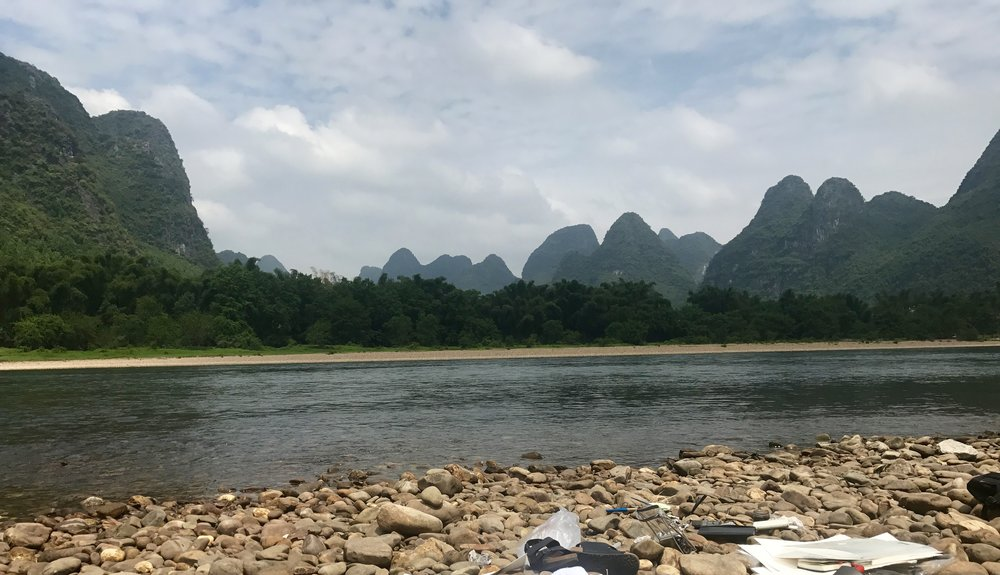 At work, Li River, near Guilin