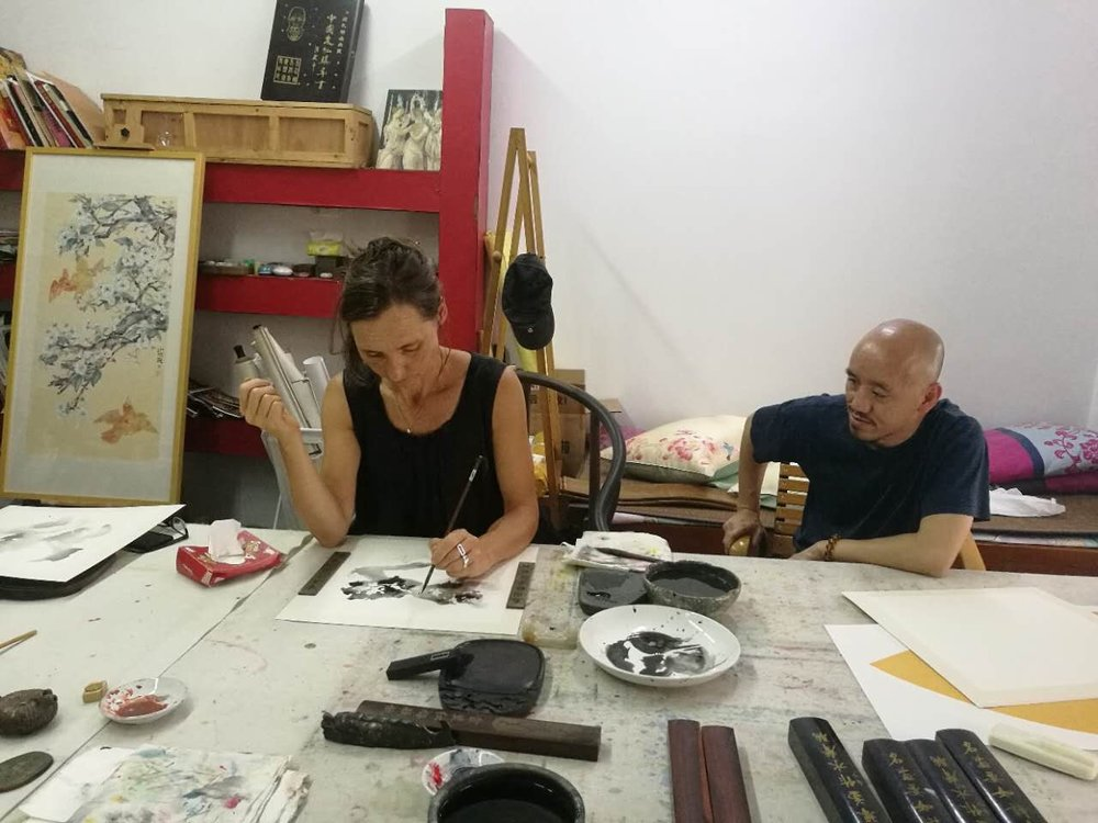 In Shaodong Wei's Studio,Ink lesson with the Master