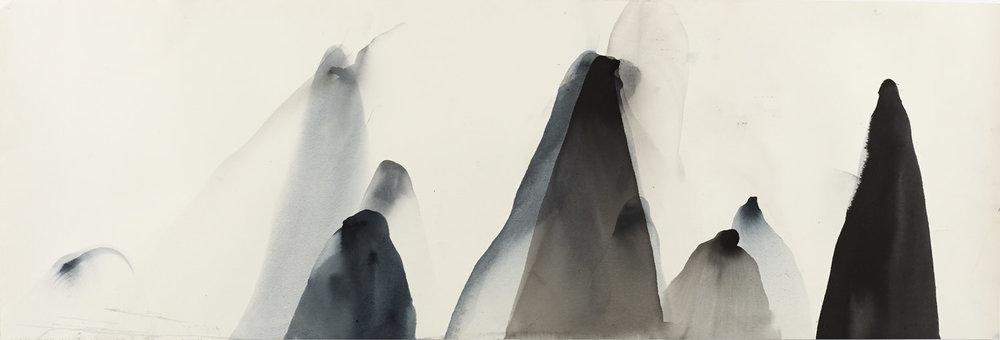 Li River 2, 111 x 38cm, Ink on Paper