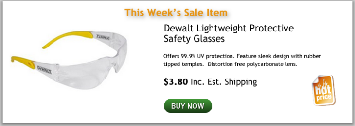 Dewalt Lightweight protective safety glasses
