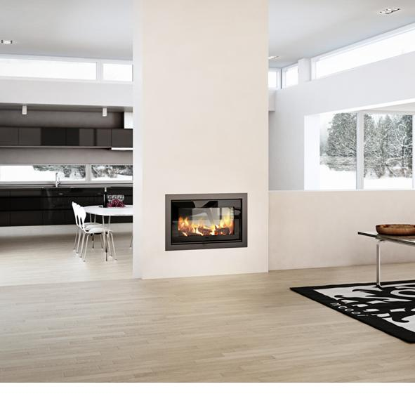 2 1 double sided insert envirolution stoves for Double sided fireplace price