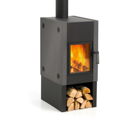 Harrie Leenders Boxer Black Wood Burning Stove