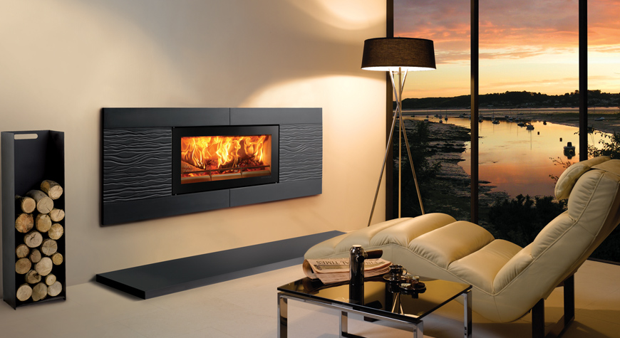 Stovax Riva Studio Ceramica Wave Wood Burning Stove