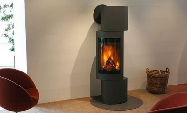 Harrie Leenders Doran Rotatable Wood Burning Stove