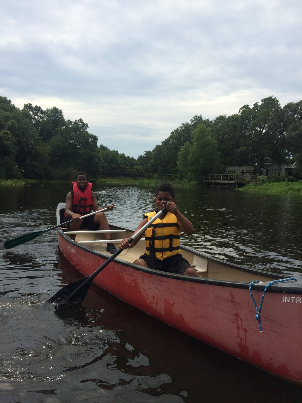 Youth Empowerment Project St. Charles Parish - Canoeing in New Orleans City Park.JPG