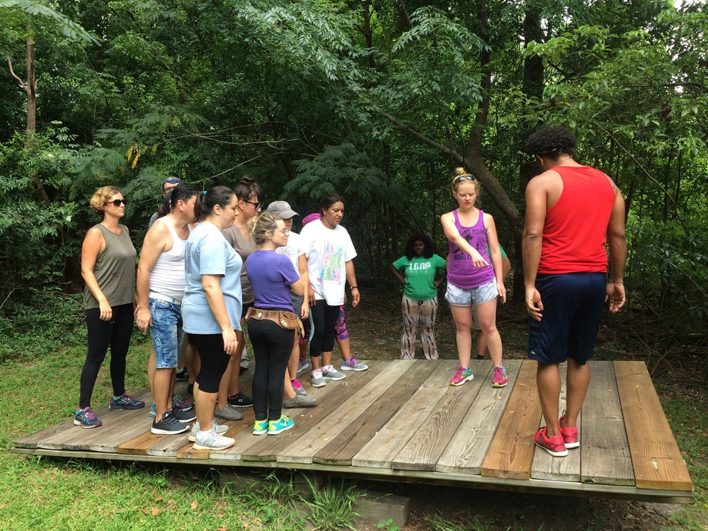International School of Louisiana Staff - Low Ropes.JPG
