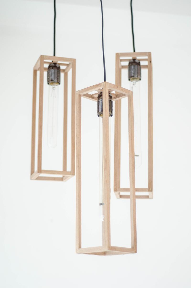 Wooden Frame Pendant Light 1