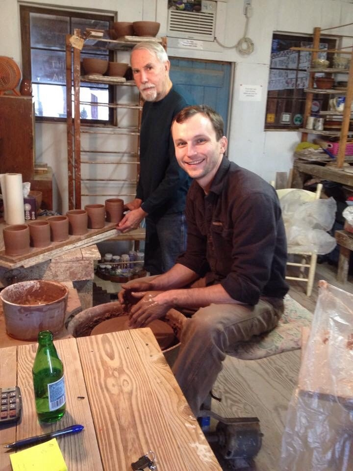 Making mugs February 2015 with Claude Graves