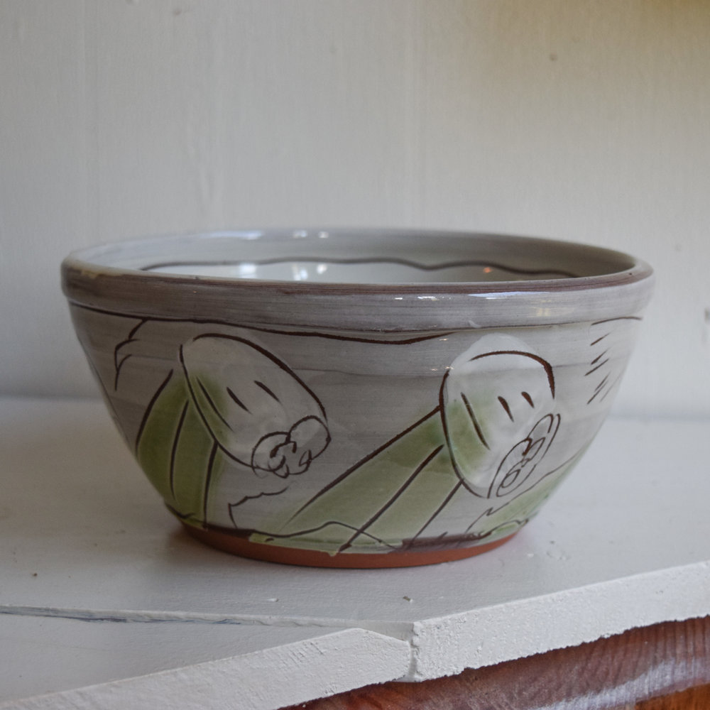"""Bowl 1- Larger than the one you ordered. About 8"""" x 4"""", priced at $40"""