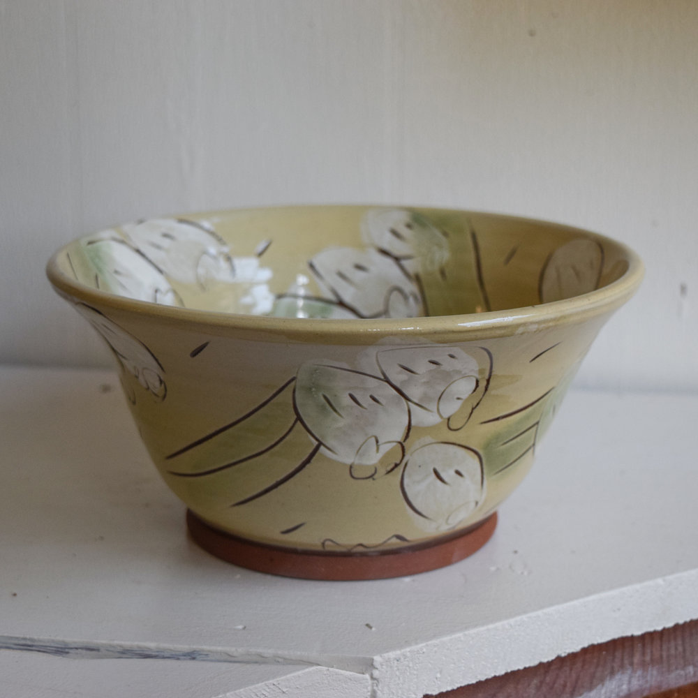 Bowl 2: Slightly smaller than the daffodil bowl you ordered. Priced at $50
