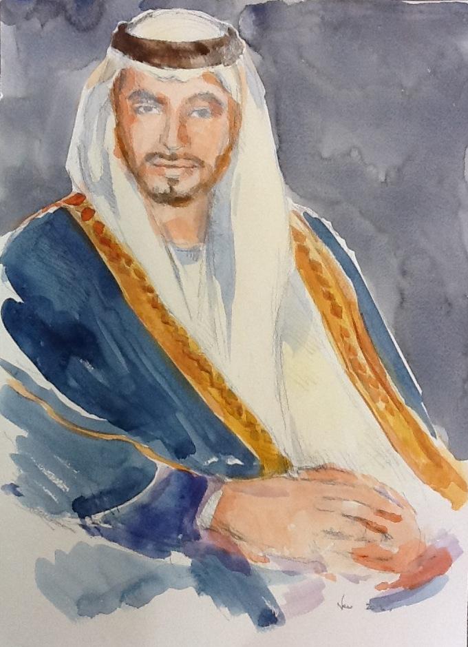 Sheikh Portrait 2 Sheikh Hamdan Bin Zayed Al Nahyan 40 x 55.5cm.JPG