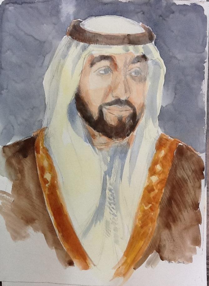 Sheikh Portrait 3 Sheikh Khalifa Bin Zayed Al Nahyan 40 x 55.5cm.JPG