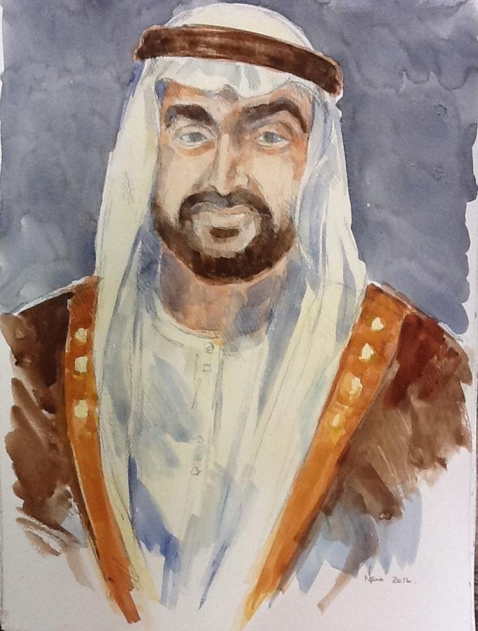 Sheikh Portrait 4 Sheikh Mohammed Bin Zayed Al Nahyan Approximate Size60 x 50cm.JPG