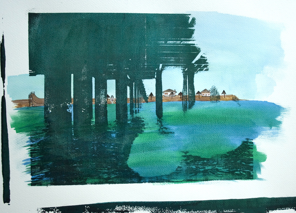 MH2 - CBV Pier Green, Mixed Media On Canvas, 40cmx30cm Dhs 1000.jpg