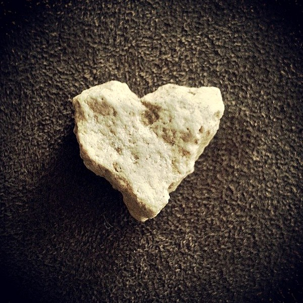 Heart shaped rock found on a walk in Memorial Park - Houston, Texas 2014.