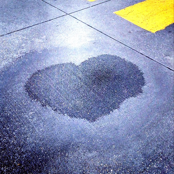 Water mark in a Costco parking lot. - Houston, TX 2011