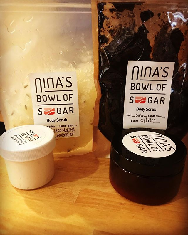 Thank you @ninasbowlofsugar for the goodies. The citrus coffee scrub is so therapeutic. So @jamqueens that whipped body butter is the cure for dry skin. . . #organicskincare #scrubs #whippedbodybutter #natural #balckgirlmagic