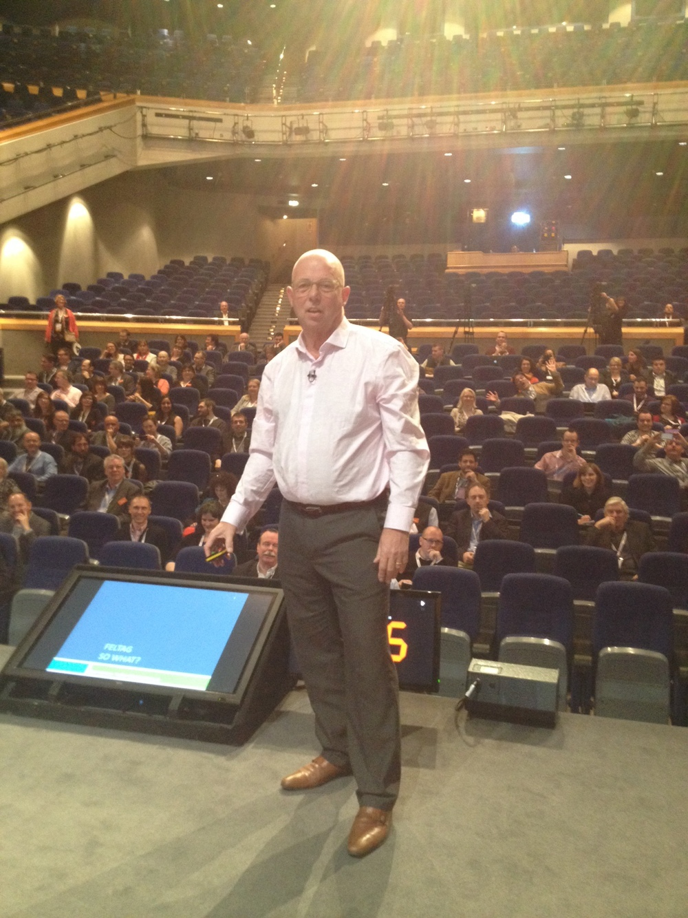 On stage at JISC DigiFest