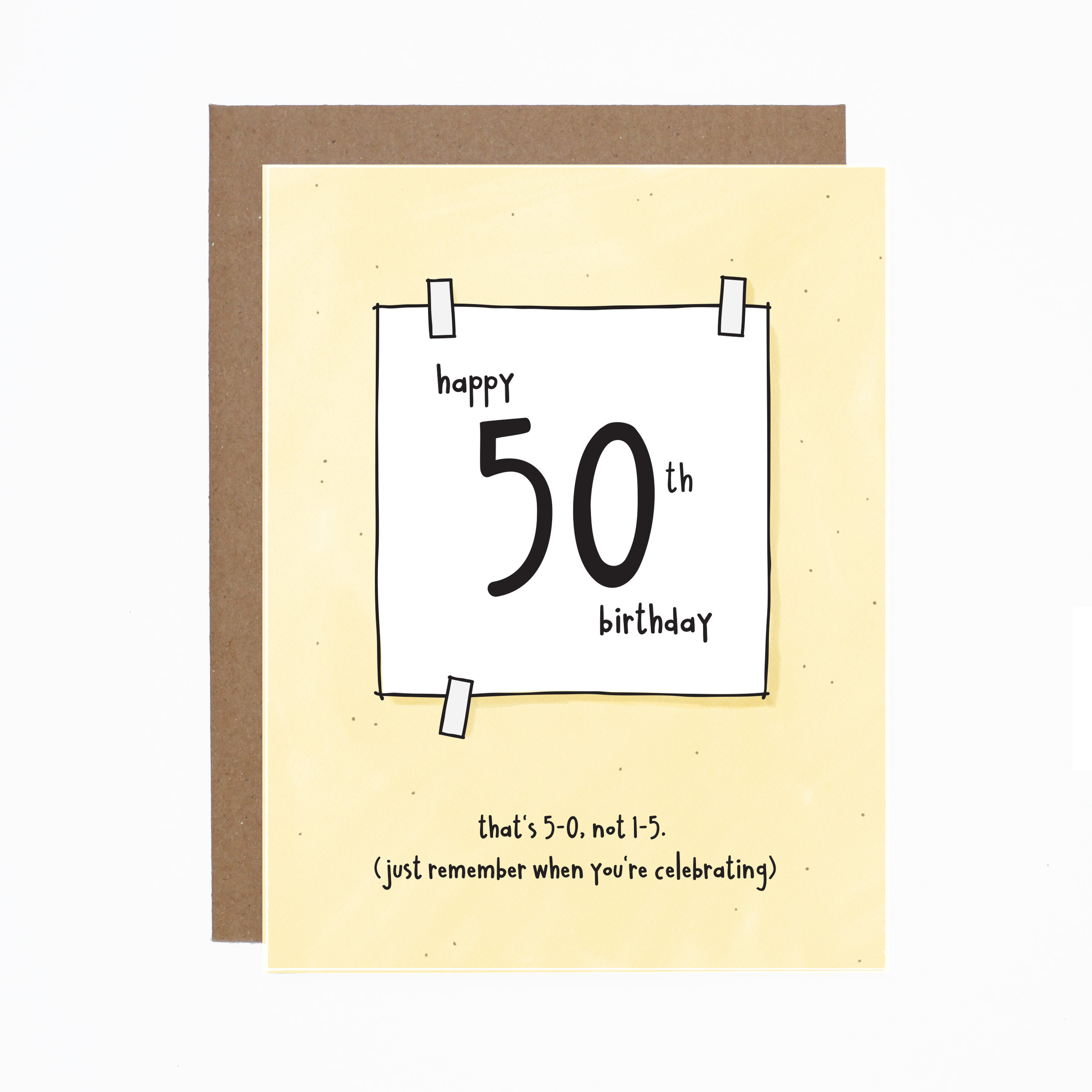 50th Birthday Card Bundle Of 6 ETSY Cardphoto 50thbday